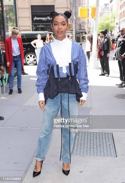 Yara Shahidi is seen on May 16, 2019 in New York City.