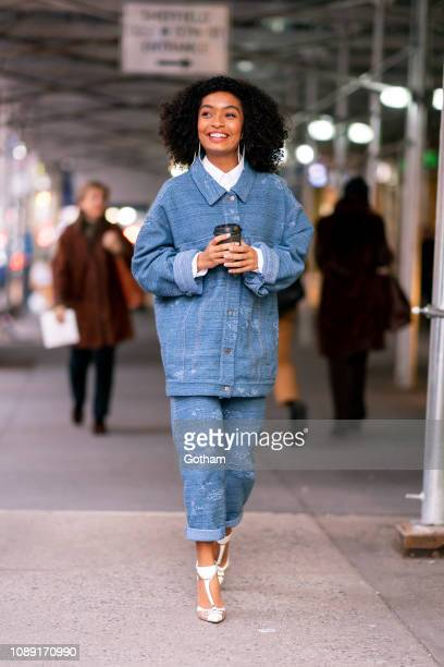 Yara Shahidi is seen wearing Missoni with Christian Louboutin shoes in Gramercy on January 02 2019 in New York City