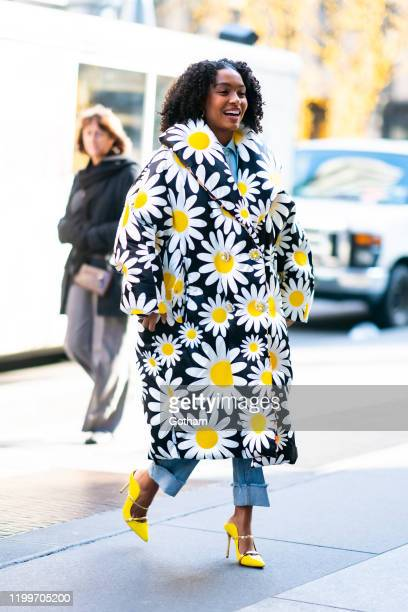Yara Shahidi is seen wearing Moncler in Midtown on January 15, 2020 in New York City.