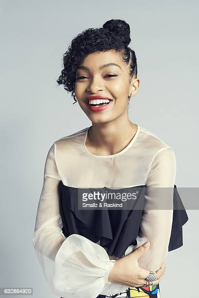 Yara Shahidi poses for a portrait at the 2017 People's Choice Awards at the Microsoft Theater on January 18 2017 in Los Angeles California