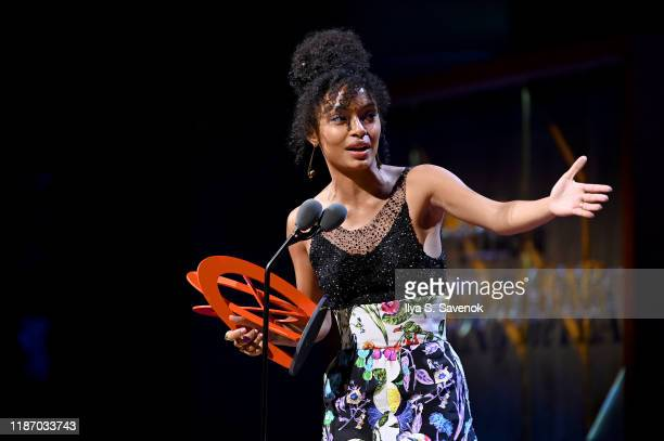 Yara Shahidi speaks onstage at the 2019 Glamour Women Of The Year Awards at Alice Tully Hall on November 11, 2019 in New York City. (Photo by Ilya S....