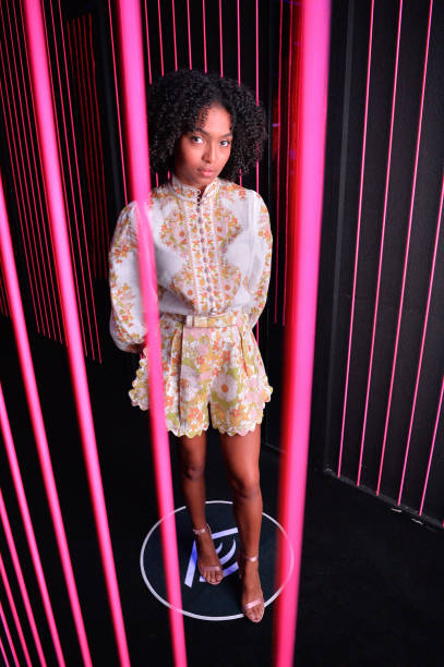 CA: Actress Yara Shahidi Visits Audible's 'Stan Lee's Alliances: A Trick of Light' Experience At San Diego Comic-Con