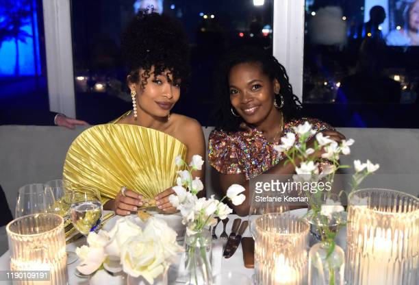 Yara Shahidi wearing Gucci and Keri Shahidi attend the 2019 LACMA Art Film Gala Presented By Gucci at LACMA on November 02 2019 in Los Angeles...