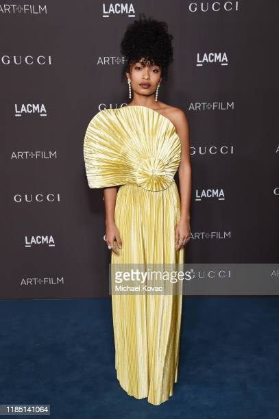 Yara Shahidi wearing Gucci attends the 2019 LACMA Art Film Gala Presented By Gucci at LACMA on November 02 2019 in Los Angeles California