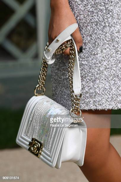 Yara Shahidibag detail attends the Chanel Haute Couture Spring Summer 2018 show as part of Paris Fashion Week on January 23 2018 in Paris France