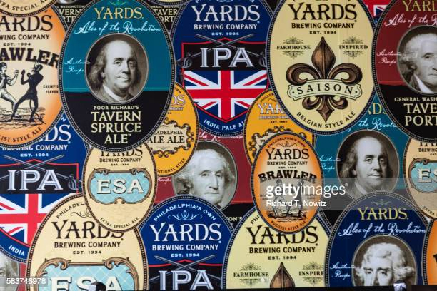 Yard's Brewery Beer labels