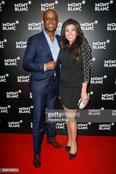 Yared Dibaba abd his wife Fernanda Dibaba attend the Montblanc House Opening on February 09, 2016 in Hamburg, Germany.