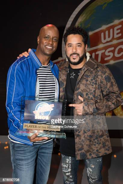 Yared Dibaba and Adel Tawil at the 'Weltreise Deutschland - Die Show' Photo Call at Fernsehwerft Berlin on November 24, 2017 in Berlin, Germany.