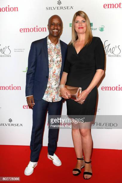 Yared Dibaba and Alexandra Widmer attend the Emotion Award at Laeiszhalle on June 28, 2017 in Hamburg, Germany.