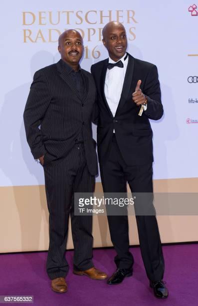 Yared Dibaba and Benjamin Dibaba attend the Deutscher Radiopreis 2016 on October 6, 2016 in Hamburg, Germany.