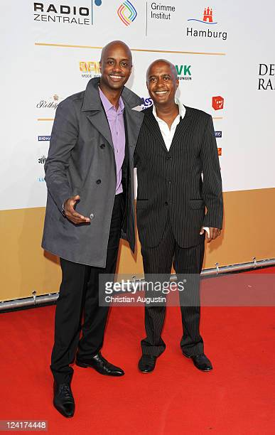 Yared Dibaba and his brother Benjamin Dibaba attend the German Radio Award 2011 on September 8, 2011 in Hamburg, Germany.