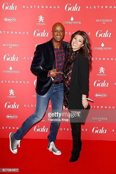Yared Dibaba and his wife attend the GALA Christmas Shopping Night 2016 at Alsterhaus on December 1, 2016 in Hamburg, Germany.