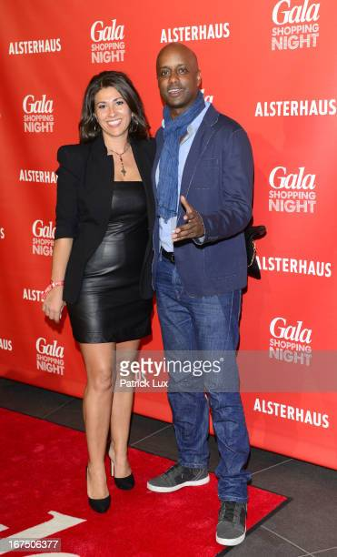 Yared Dibaba and his wife Fernanda at Alsterhaus on April 25, 2013 in Hamburg, Germany.