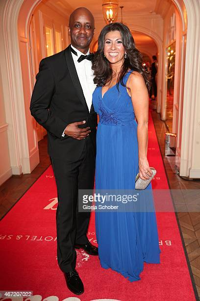 Yared Dibaba and his wife Fernanda during the Gala Spa Awards 2015 at Brenners ParkHotel Spa on March 21 2015 in BadenBaden Germany