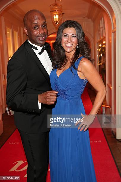 Yared Dibaba and his wife Fernanda during the Gala Spa Awards 2015 at Brenners Park-Hotel & Spa on March 21, 2015 in Baden-Baden, Germany.