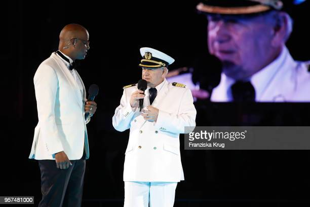 Yared Dibaba and Kjell Holm during the naming ceremony of the cruise ship 'Mein Schiff 1' on May 11, 2018 in Hamburg, Germany.
