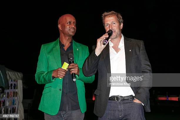 Yared Dibaba and Peter Merck attend the Golf Lounge Hamburg 10th anniversary celebrations on September 26, 2015 in Hamburg, Germany. The Golf Lounge...