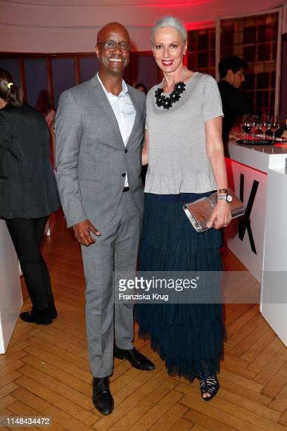 Yared Dibaba and Petra van Bremen during the Emotion Award 2019 on June 6, 2019 in Hamburg, Germany.