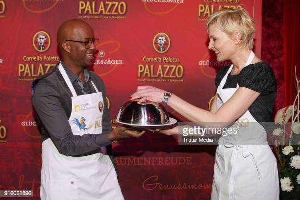 Yared Dibaba and Sanna Englund during the Poletto Palazzo Charity Event on February 8, 2018 in Hamburg, Germany.