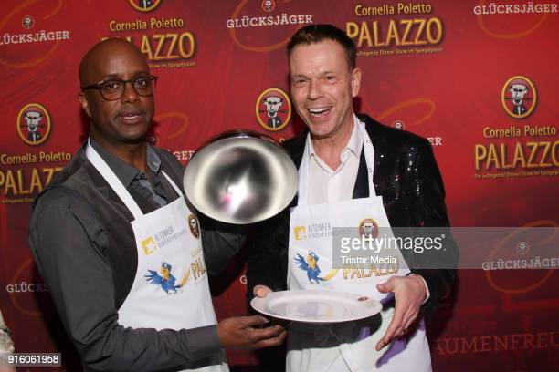 Yared Dibaba and Ulf Ansorge during the Poletto Palazzo Charity Event on February 8, 2018 in Hamburg, Germany.