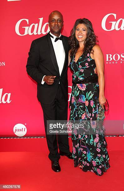 Yared Dibaba and wife Fernanda de Sousa Dibaba attend the '20 Jahre Gala' Anniversary Celebration - The Private Birthday Cruise on board of 'MS...