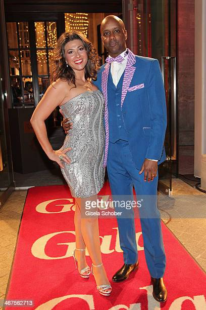 Yared Dibaba and wife Fernanda de Sousa Dibaba attend the Berlin Opening Night Of Gala & Ufa Fiction during the 64th Berlinale International Film...