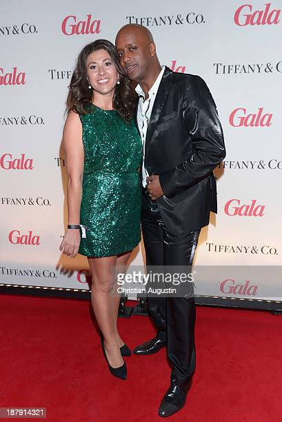 """Yared Dibaba and wife Fernanda Dibaba attend GALA event """"Where Diamonds meet Red Carpet"""" at the restaurant """"The Bank"""" on November 13, 2013 in..."""