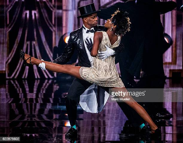 Yared Dibaba performs during the first live show of 'Deutschland tanzt' on November 12, 2016 in Munich, Germany. In the first show 16 celebrities...
