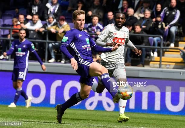 Yari Verschaeren midfielder of Anderlecht pictured during the Jupiler Pro League match between RSC Anderlecht and Standard de Liege at the Constant...