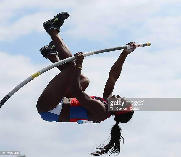 Yarisley Silva Cuba in action during the Women's Pole Vault competition at the Diamond League Adidas Grand Prix at Icahn Stadium Randall's Island...