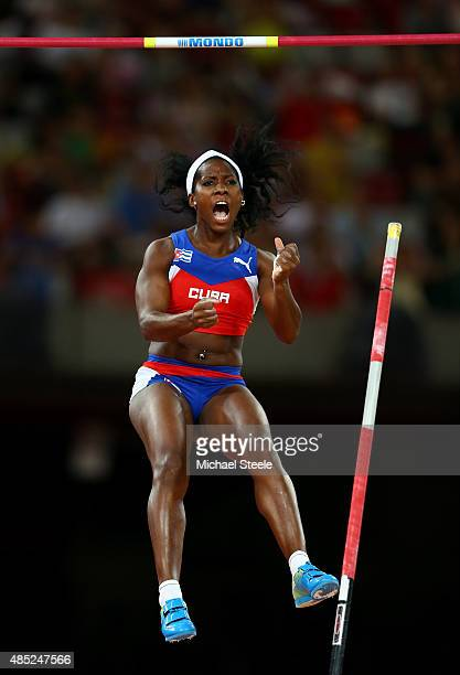 Yarisley Silva of Cuba competes in the Women's Pole Vault final during day five of the 15th IAAF World Athletics Championships Beijing 2015 at...