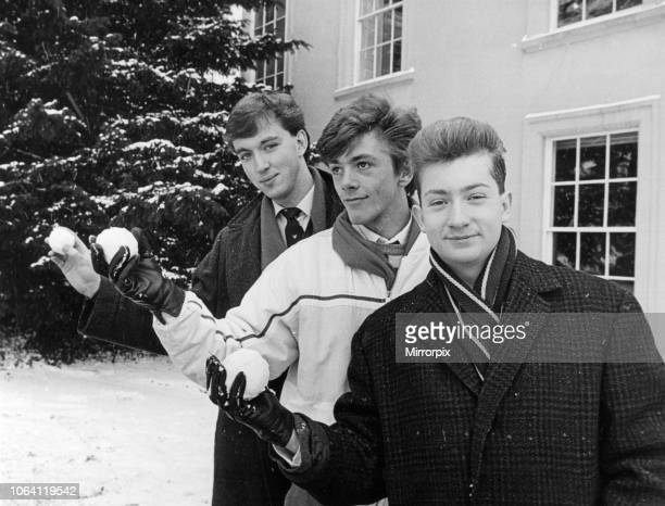 Yarm School, Yarm, North Yorkshire, England, Tuesday 13th January 1987; Three Yarm sixth formers are the toast of the school after winning places to...