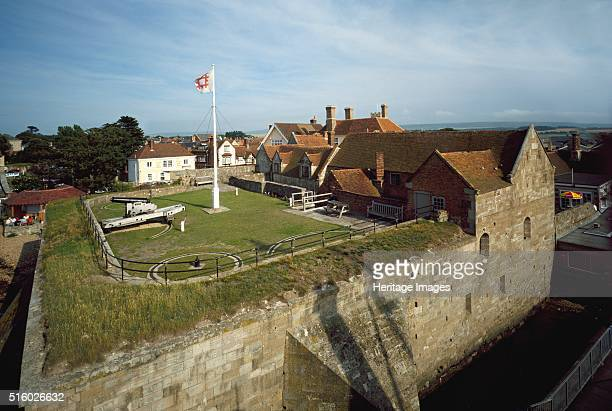 Yarmouth Castle, Isle of Wight, c2000s. View from ferryboat bridge. Yarmouth Castle was an artillery fort built in the 1540s during the reign of...