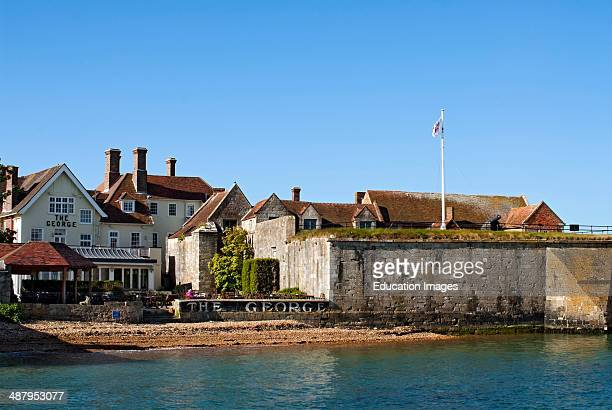 Yarmouth Castle next to 'The George' Pub on the Isle of Wight, South England.