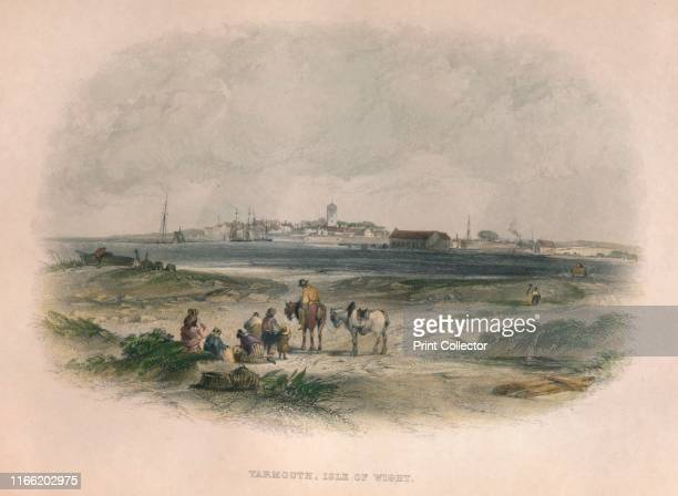 Yarmouth, Isle of Wight', circa 19th century. The town is named for its location at the mouth of the Western Yar river on the Isle of Wight. Artist...