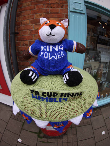 GBR: Leicester Shops Display Football Memorabilia In Support Of The Foxes As They Head To The FA Cup Final