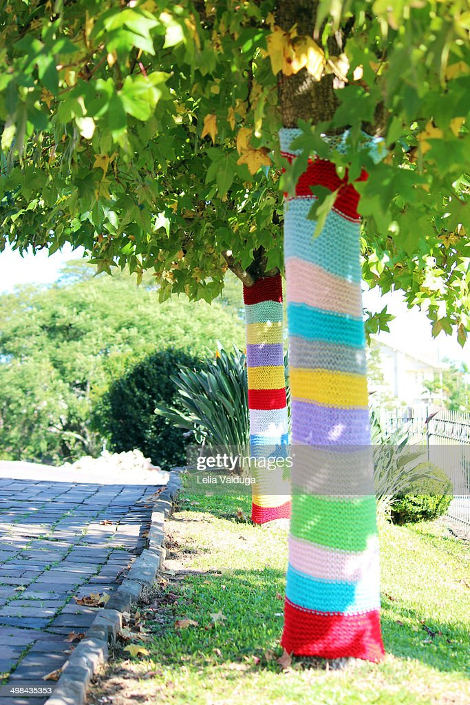 Yarn Bombing : Stock Photo