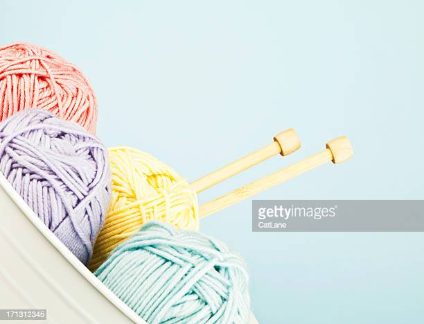 Yarn Collection with Knitting Needles