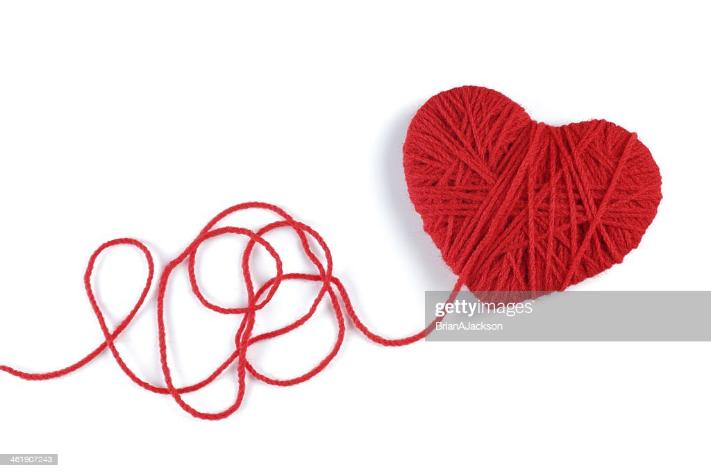 Yarn Of Wool In Heart Shape Symbol Stock Photo Getty Images