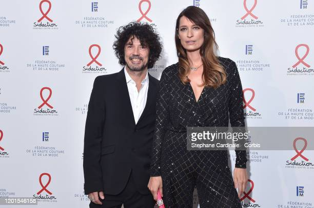 Yarol Poupaud and Caroline de Maigret attends Sidaction Gala Dinner 2020 At Pavillon Cambon on January 23 2020 in Paris France