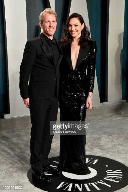Yaron Varsano and Gal Gadot attend the 2020 Vanity Fair Oscar Party hosted by Radhika Jones at Wallis Annenberg Center for the Performing Arts on...