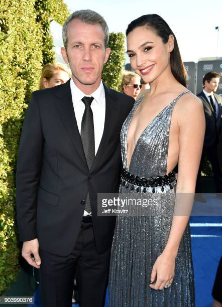 Yaron Versano and actor Gal Gadot attend The 23rd Annual Critics' Choice Awards at Barker Hangar on January 11 2018 in Santa Monica California