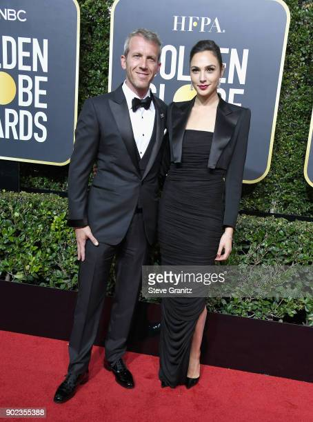 Yaron Versano and Gal Gadot attend The 75th Annual Golden Globe Awards at The Beverly Hilton Hotel on January 7 2018 in Beverly Hills California