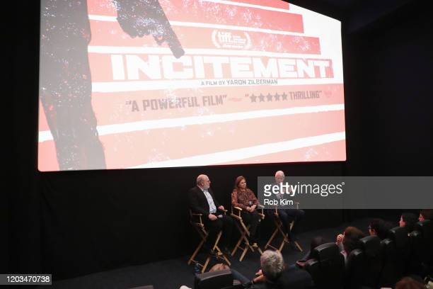 Yaron Zilberman Dalia Rabin and Bill Clinton attend a special screening of Incitement at The Landmark at 57 West on February 01 2020 in New York City