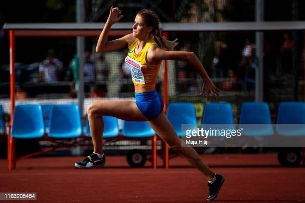 Yaroslava Mahuchikh of Ukraine competes during High Jump Women Final on July 20 2019 in Boras Sweden