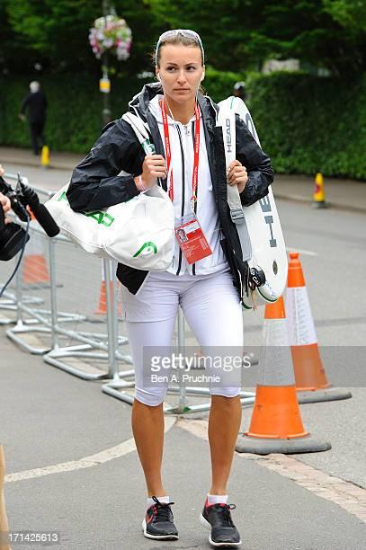 Yaroslava Shvedova sighted at Wimbledon Tennis on June 24, 2013 in London, England.
