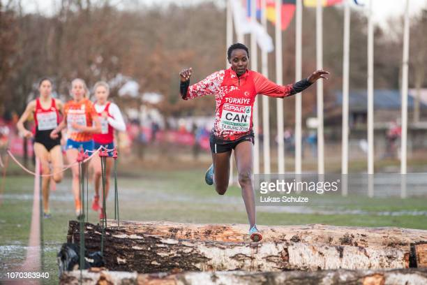 Yasemin Can of Turkey competes during the Women's race of the SPAR European Cross Country Championships on December 9 2018 in Tilburg Netherlands
