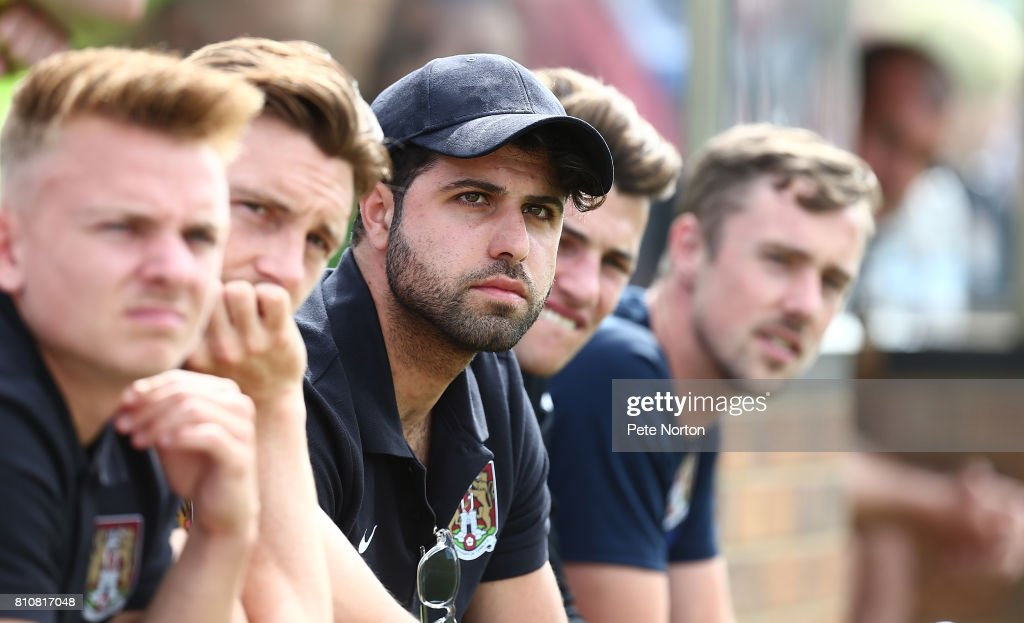 Yaser Kasim of Northampton Town looks on during a Pre-Season Friendly Match between Sileby Rangers and Northampton Town at Fernie Fields on July 8, 2017 in Northampton, England.