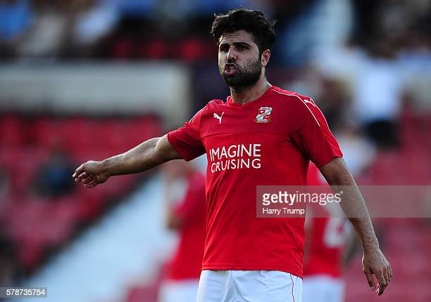 Yaser Kasim of Swindon Town during the Pre Season Friendly match between Swindon Town and Reading at the County Ground on July 19 2016 in Swindon...