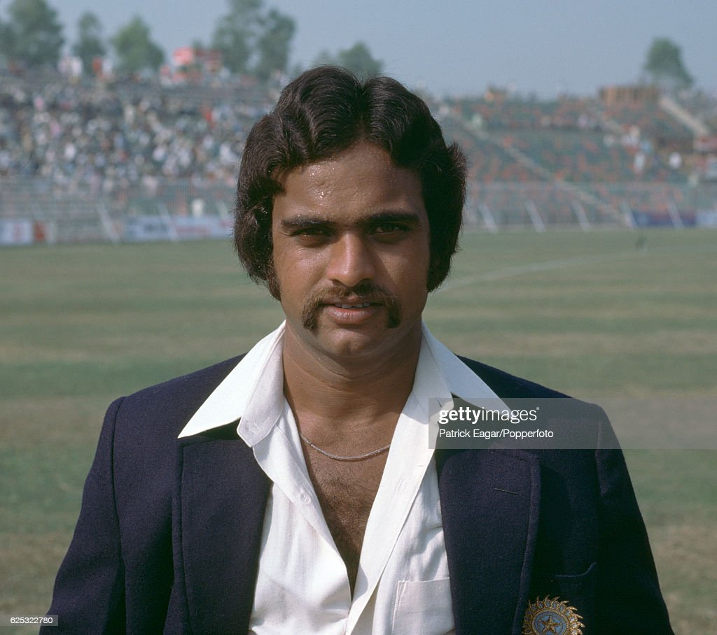 Yashpal Sharma of India during the 2nd Test match between Pakistan and India at the Gaddafi Stadium Lahore Pakistan 27th October 1978